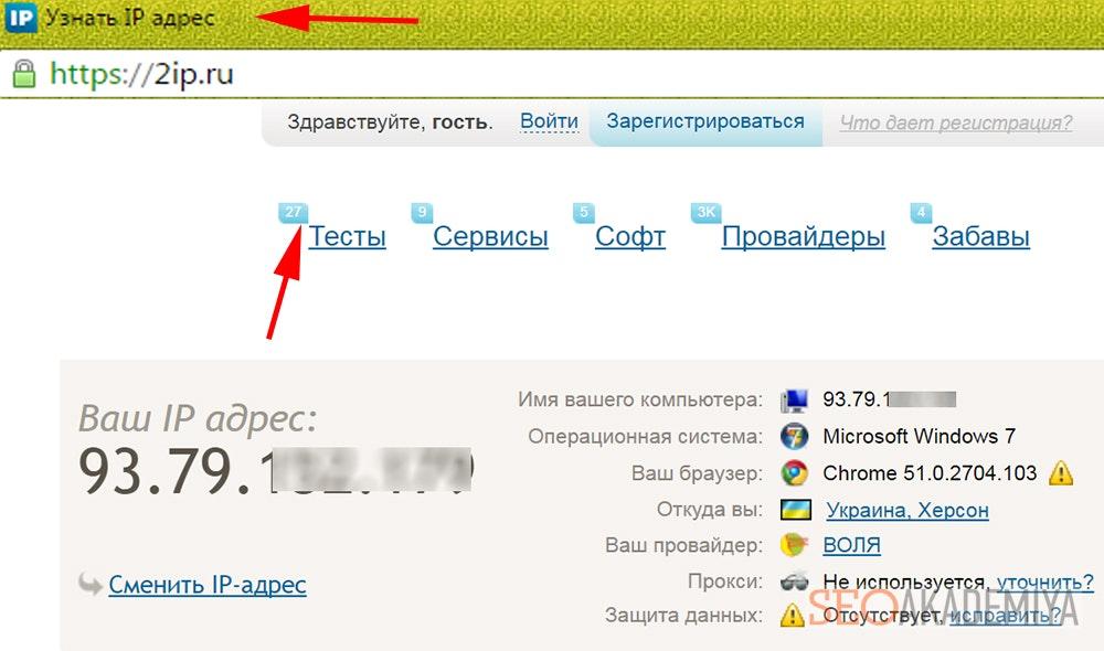 Как начать работать с 2ip.ru