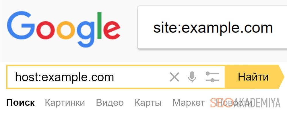 Поиск дублей страниц в индексе