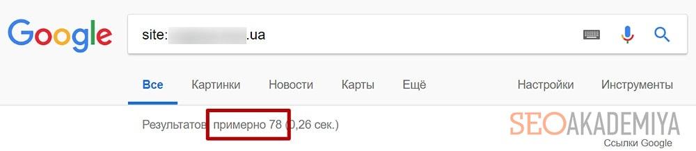 Проверка индексации в Google