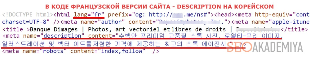 Ошибочный description для страниц языковой версии
