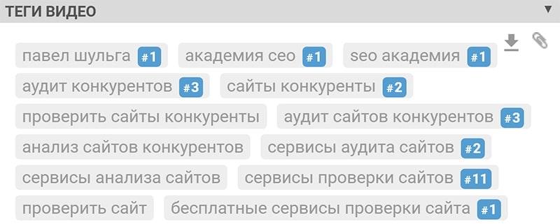 что такое теги в youtube пример