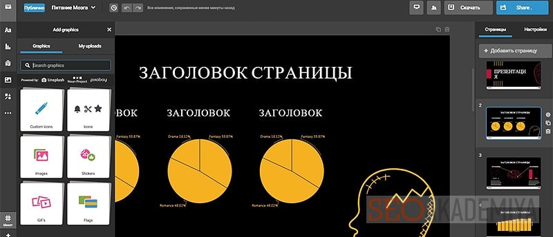 Как создать информационную графику в infogr-am