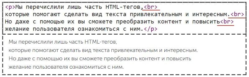 как в html перенести строку