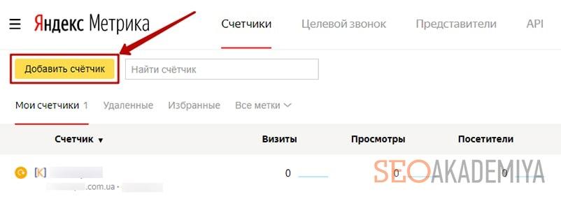 как зарегистрироваться в яндекс метрике