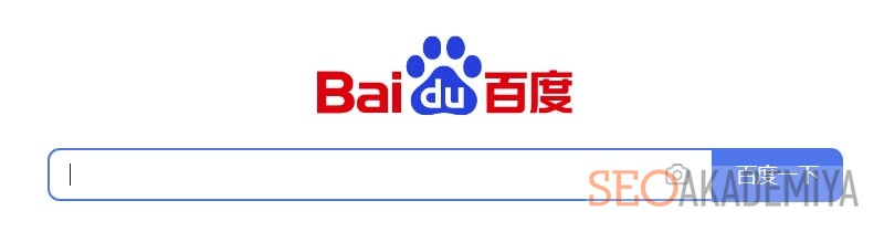китайский поисковик Baidu картинка