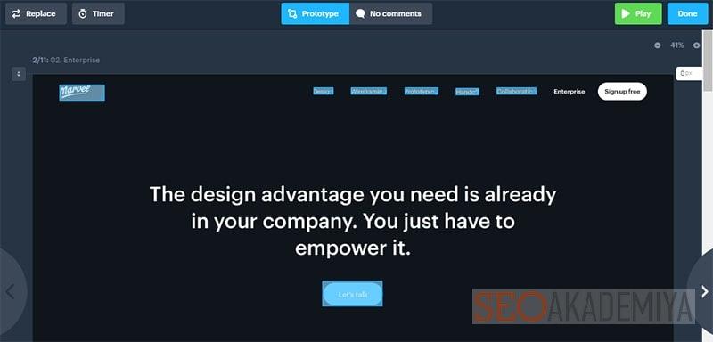 Marvel для разработки прототипов веб-приложений