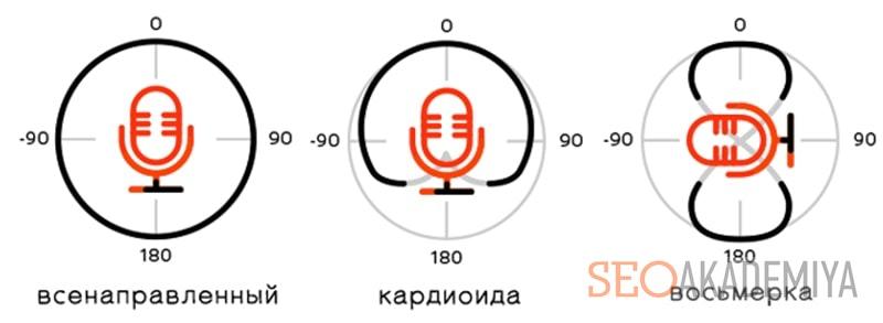 направленность микрофонов для съемки видео