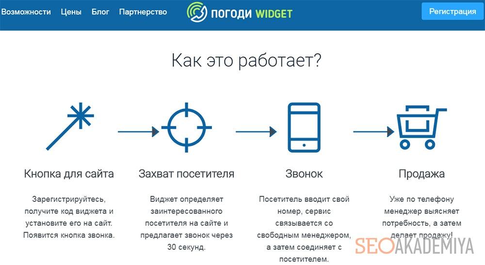 Погоди Widget - сервис обратного звонка на сайте
