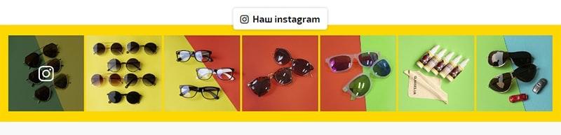 пример установленной ленты instagram на сайте