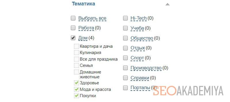 Анализ сайта донора на тематичность