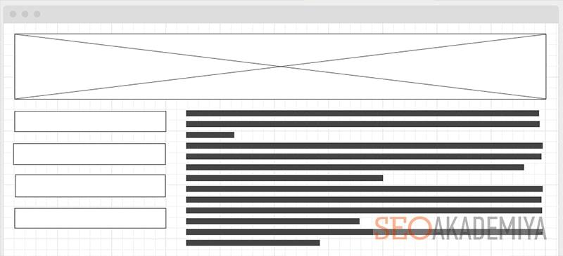 разработка макета сайта в wireframe картинка