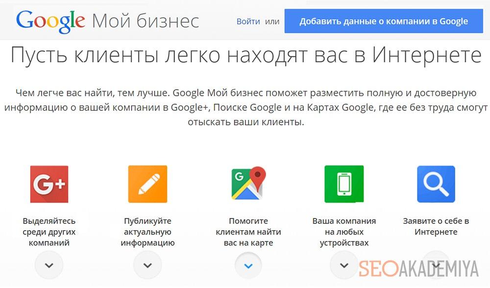Регистрация начало продвижения в Гугл картах