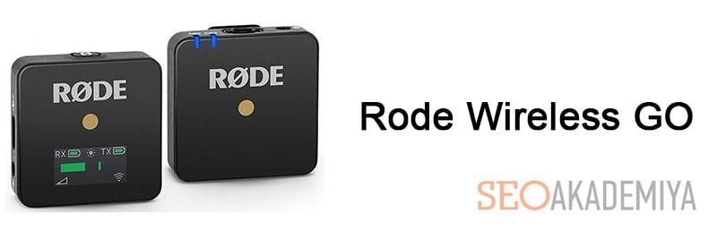 Rode Wireless GO микрофон для ютуба