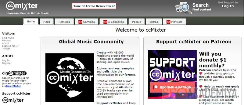 сервис CcMixter с музыкой без авторских прав