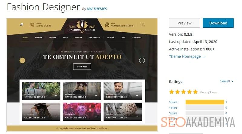 Тема WP для сайтов услуг в области моды и красоты