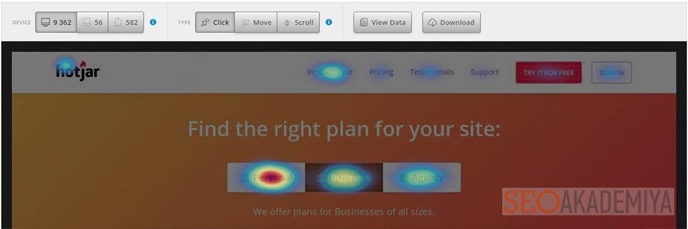 hotjar платный сервис карт кликов и скроллинга