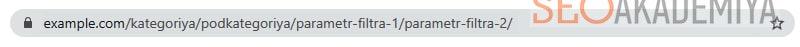 URL с двумя параметрами фильтрации в интернет-магазине