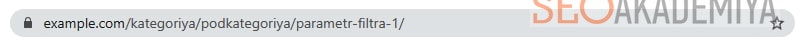 URL с одним параметром фильтра картинка
