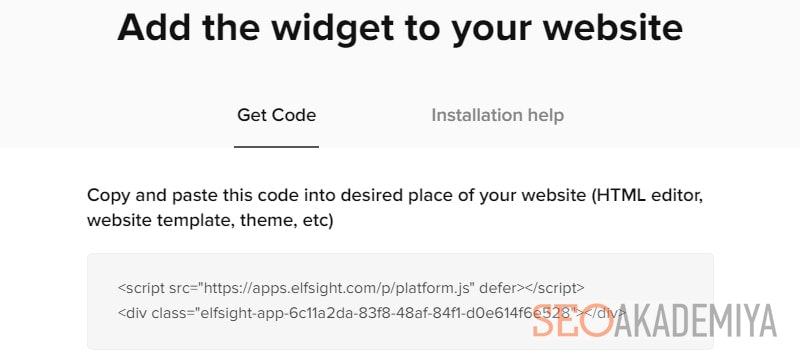 установка кода виджета инстаграм на сайте