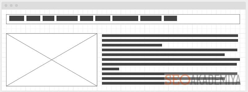 Wireframe для разработки макета страницы сайта